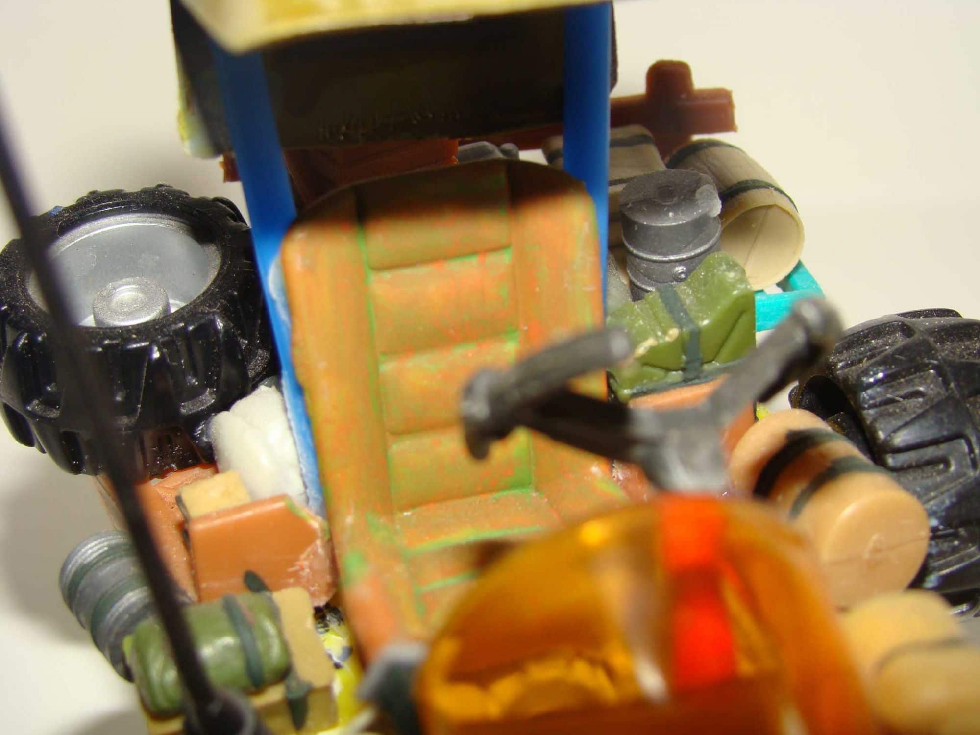 miniature de buggy - création scratch - 1:50 ème