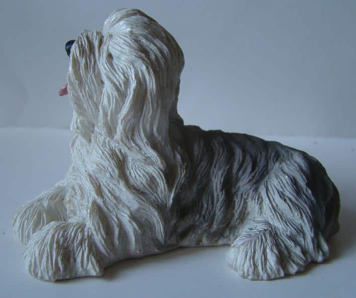 figurine Briard gris