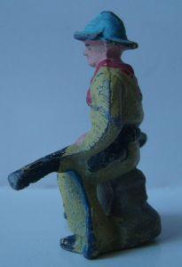 figurine ancienne aluminium