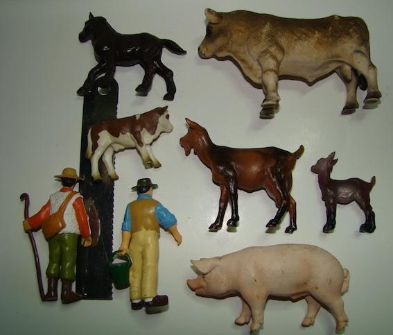 figurines d'occasion - les animaux de la ferme