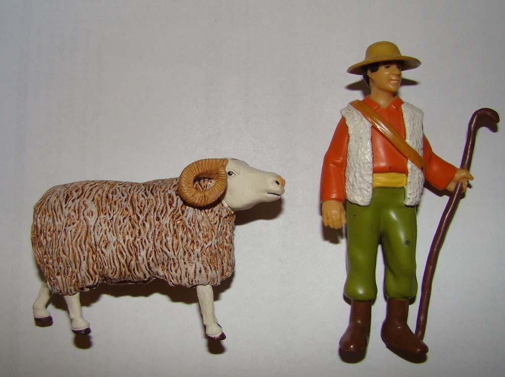 figurine-le berger et le bêlier
