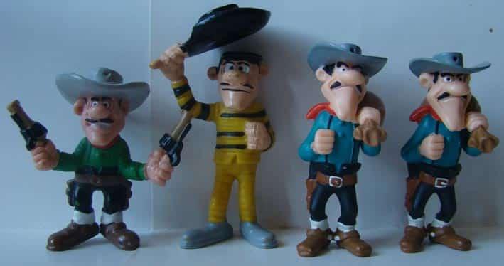 figurines Lucky Luke (PLastoy© - Bullyland© Schleich© Quick©)