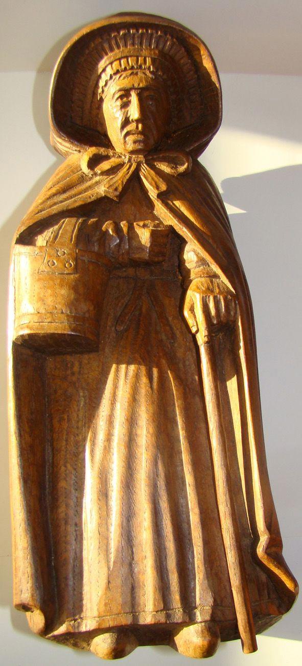 art naïf statuette bois massif