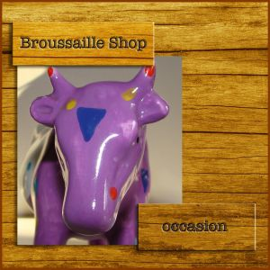 vache psychédélique - objet de décoration