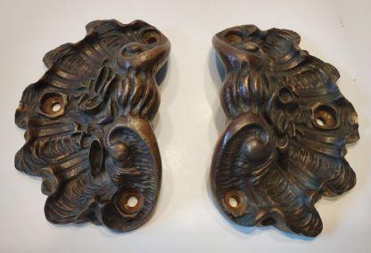 Poignées-coquillage-laiton